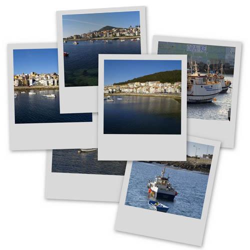 Collage de fotos do porto