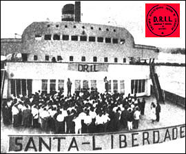 O Santa María durante o secuestro