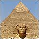 Esfinge y pirámide de Kefrén