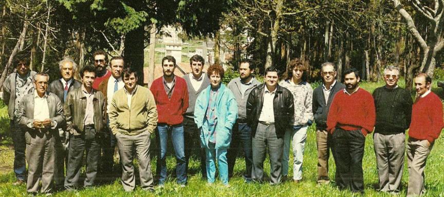 Candidatura as Eleccions Municipais ao Concello de A Guarda en 1987. José Luís está de cuarto pola dereita. Fotografía de Victoriano Rodriguez González