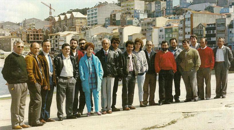 Outra fotografía da candidatura ás Eleccions Municipais de 1987