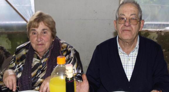 """José Luís e María Xesús no """"Día da Paletada"""" dos comuneiros de Camposancos"""
