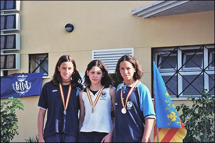 Medalla de Oro en 100m Mariposa. Campeonato de España Infantil. Mejor marca nacional infantil 2003