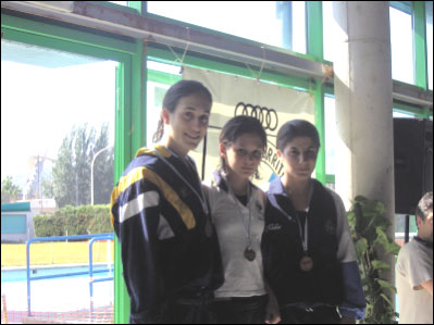 Medalla de Oro en 100 m. mariposa. Campeonato absoluto de Galicia. Nadadora más joven en obtener el Oro.